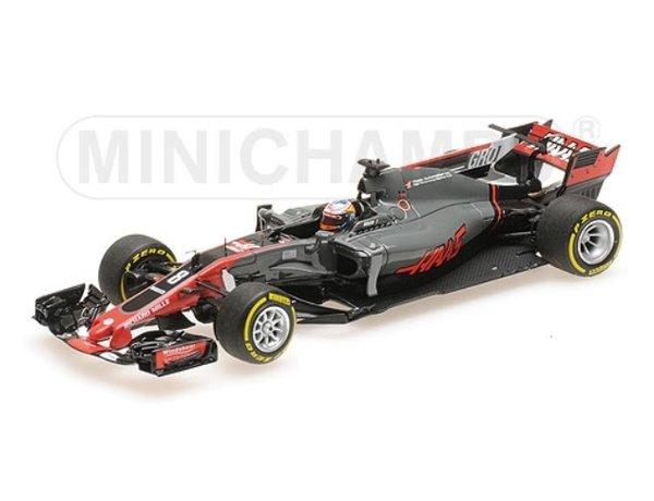【並行輸入品】ミニチャンプス 1/43 ハース F1 チーム フェラーリ VF-17 R.グロージャン 2017年スペインGP