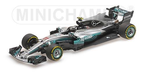 ミニチャンプス 1/43 メルセデス W08 V.ボッタス2017年中国GP