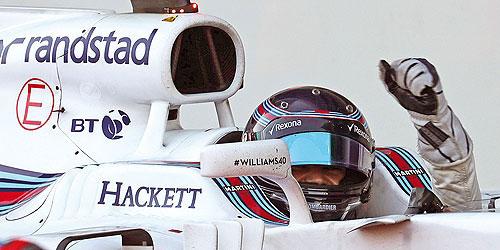 ミニチャンプス 1/43 ウィリアムズ FW40 L.ストロール 2017年アゼルバイジャンGP3位