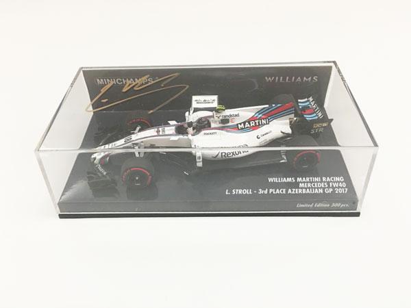 【オートグラフフェアー対象】L.ストロール直筆サイン入 ミニチャンプス 1/43 ウィリアムズ FW40  2017年アゼルバイジャンGP3位