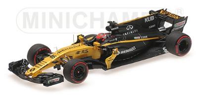 ミニチャンプス 1/43 ルノー F1チーム RS17 R.クビサ 2017年ハンガロリンク テスト