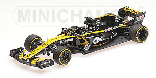 ミニチャンプス 1/43 ルノー F1 チーム N.ヒュルケンベルグ ショーカー 2018