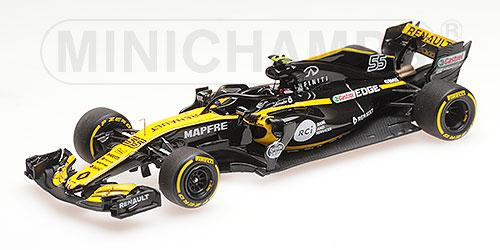 ミニチャンプス 1/43 ルノー F1 チーム C.サインツ Jr. ショーカー 2018