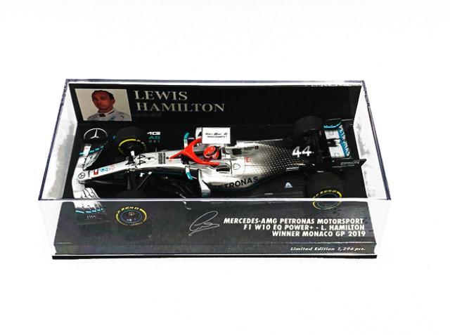 ミニチャンプス 1/43 メルセデス F1 W10 L.ハミルトン 2019年モナコGP優勝 No.44