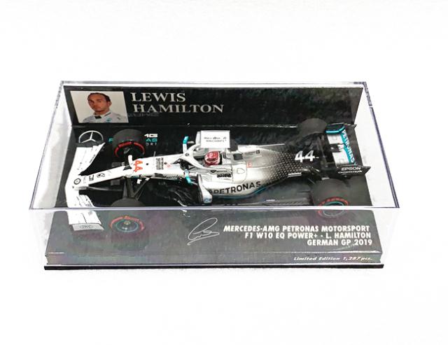 ミニチャンプス 1/43 メルセデス F1 W10 L.ハミルトン 2019年ドイツGP No.44