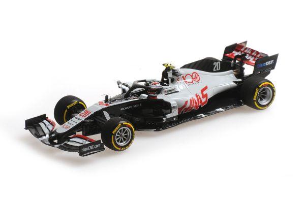 ミニチャンプス 1/43 ハース F1 チーム VF-20 K.マグヌッセン アブダビGP 2020