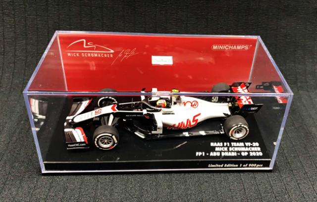 ミニチャンプス 1/43 ハース F1 チーム VF-20 ミック・シューマッハー FP1 アブダビGP 2020