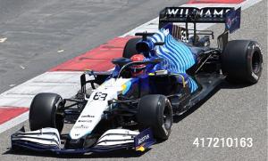 【ミニチャンプス(417210163)2021年10月以降順次発売予定ご予約商品4/23締切】1/43 ウィリアムズ FW43B G.ラッセル  バーレーンGP 2021予価:税込¥14850