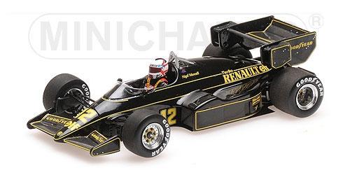 ミニチャンプス 1/43 ロータス ルノー 95T N.マンセル 1984