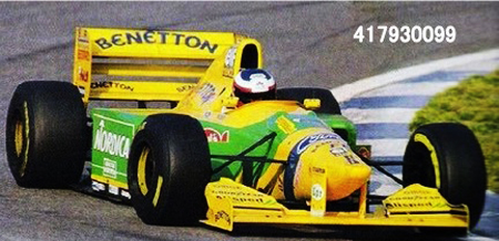 ミニチャンプス 1/43 ベネトン フォード B193B M.アルボレート 1993年12月15日バルセロナ テスト