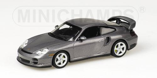 ミニチャンプス1/43 ポルシェ 911 GT2 2001 グレー