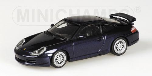 ミニチャンプス1/43 ポルシェ 911 GT3 1999 ラピスブルーメタリック