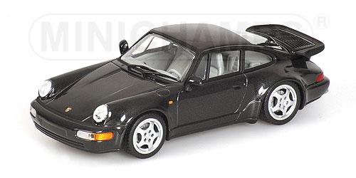 ミニチャンプス1/43 ポルシェ 911 ターボ 1990 ブラックメタリック