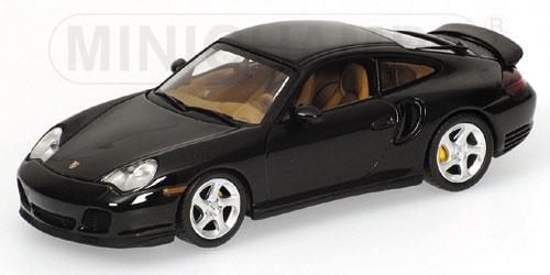 ミニチャンプス1/43 ポルシェ 911 ターボ 1999 グリーンメタリック (黒に近いグリーン)