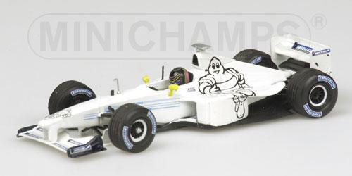 【ミニカーフェア対象】ミニチャンプス 1/43 ウィリアムズ BMW FW21 ミシュランテストカー 2000 (並行輸入品)