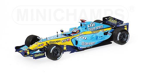 ミニチャンプス  1/43 ルノー F1 R25 F.アロンソ ワールドチャンピオン ボックス2005