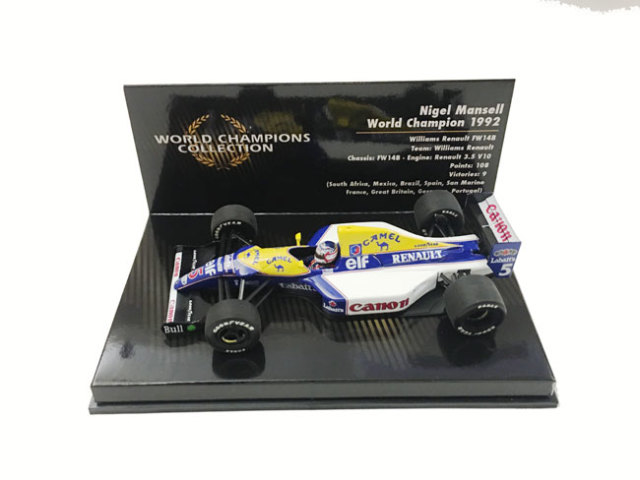 ミニチャンプス 1/43 ウィリアムズ FW14B N.マンセル ワールドチャンピオンボックス 当店オリジナルタバコロゴモデル