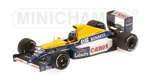 ミニチャンプス 1/43 ウィリアムズ ルノー FW13B D.ヒル シルバーストーン F1テスト 3月19日 1991