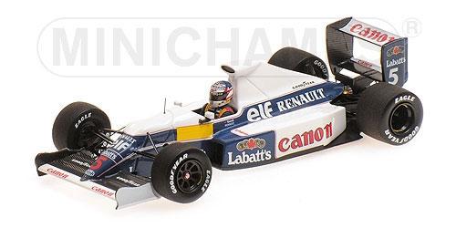 ミニチャンプス 1/43 ウィリアムズ ルノー FW13B N.マンセル テストセッション