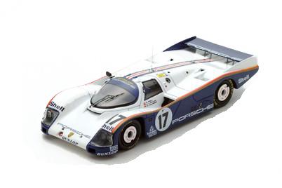 スパーク 1/43 ポルシェ962C 1987年ルマン24時間レース優勝 No.17 D.Bell-H.-J.Stuck-A.Holbert