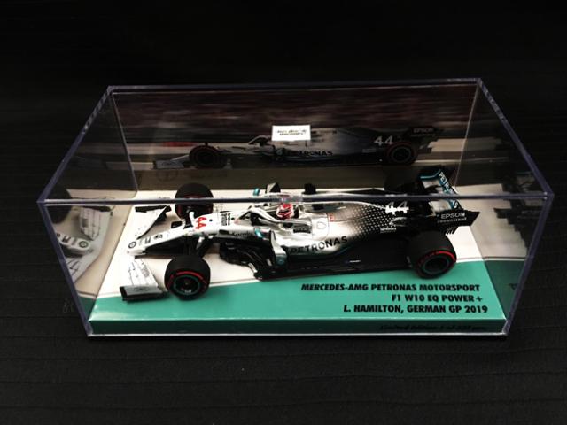 海外別注 ミニチャンプス 1/43 メルセデス W10 L.ハミルトン 2019年ドイツGP No.44