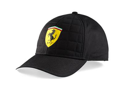 フェラーリ SF キルトステッチ キャップ ブラック