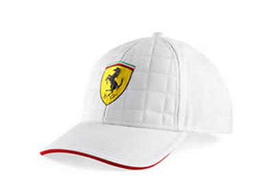 フェラーリ SF キルトステッチ キャップ ホワイト
