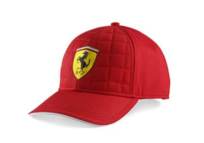 フェラーリ SF キルトステッチ キャップ レッド