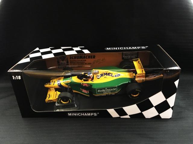 ミニチャンプス 1/18 ベネトン フォード B193 M.シューマッハー 1993年カナダGP2位 当店オリジナルタバコモデル