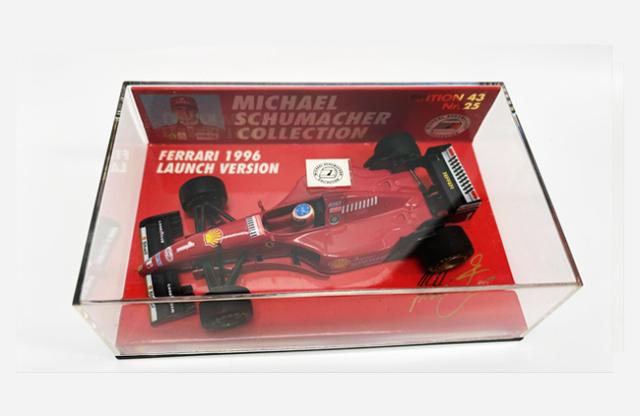 ミニチャンプス 1/43 フェラーリ 1996ランチバージョン M.シューマッハ シューマッハコレクション Nr.25