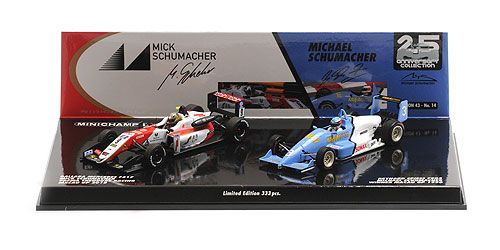 ミニチャンプス 1/43 レイナード F903 ミハエル・シューマッハ マカオGP1990 &ダラーラ メルセデス F317 ミック・シューマッハ マカオGP2018 2台セット
