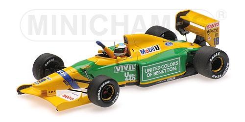 ミニチャンプス1/43 ベネトン フォード B192 M.シューマッハー 1992年ベルギーGPF1初優勝レース
