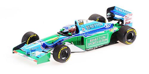 ミニチャンプス 1/43 ベネトン フォード B194 M.シューマッハ フランスGP 1994 ウィナー