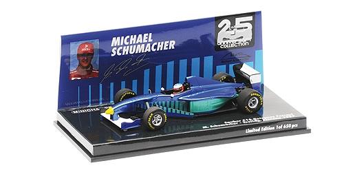 ミニチャンプス 1/43 ザウバー フェラーリ C16 M.シューマッハー テスト フィオラノ 1997年9月12日