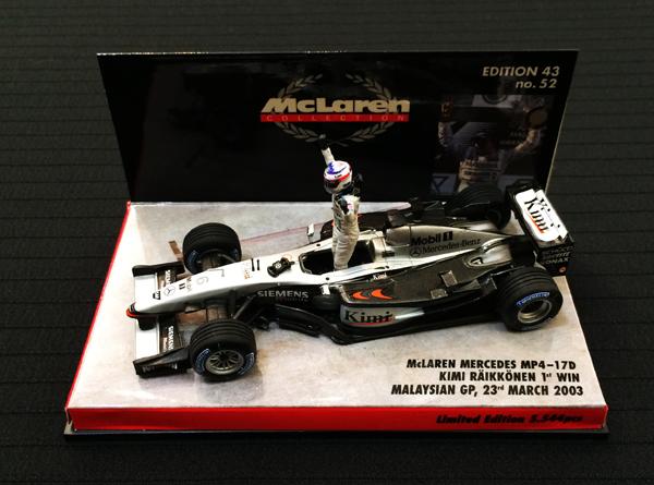 【祝F1 300GPプレゼント企画】ミニチャンプス 1/43 マクラーレン MP4-17D K.ライコネン 2013年マレーシアGP 1STWIN