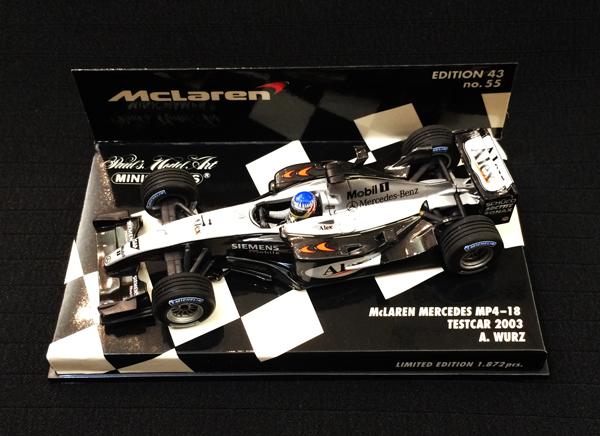 ミニチャンプス 1/43 マクラーレン MP4-18 2003テストカー A.ブルツ