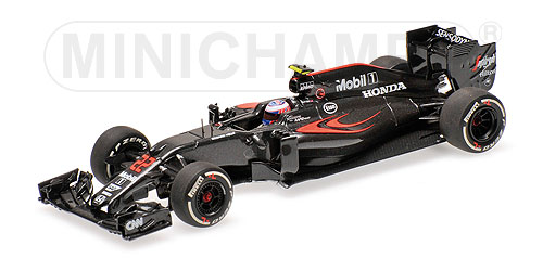ミニチャンプス 1/43 マクラーレン ホンダ MP4-31 J.バトン 2016中国GP
