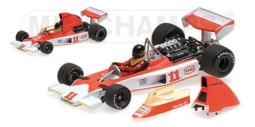 【再入荷】ミニチャンプス 1/43 マクラーレン フォード M23 J.ハント 1976年南アフリカGP No.11