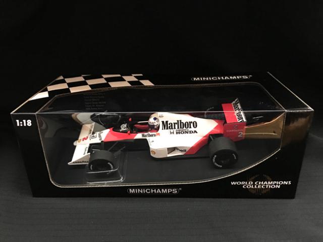 ミニチャンプス 1/18 マクラーレン ホンダ MP4/5 A.プロスト 1989年ワールドチャンピオン 当店オリジナルタバコロゴモデル