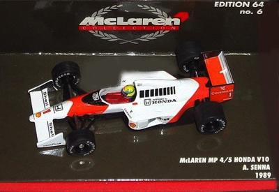 ミニチャンプス 1/64 マクラーレン MP4/5 A.セナ 1989