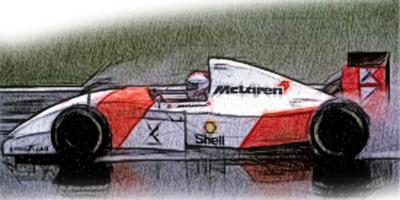【再入荷】ミニチャンプス 1/43 マクラーレン フォード MP4/8 M.アンドレッティ 1993年ヨーロピアンGP