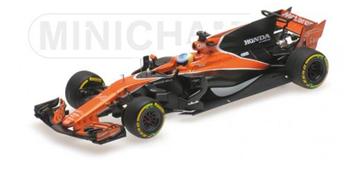 ミニチャンプス 1/43 マクラーレン MCL32 F.アロンソ 2017年中国GP