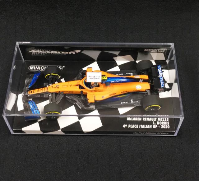 【再入荷】ミニチャンプス 1/43 マクラーレン MCL35 L.ノリス 2020年イタリアGP4位