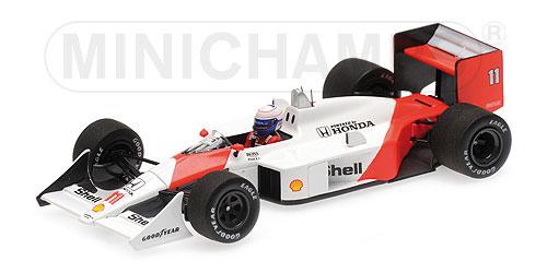 ミニチャンプス 1/43 マクラーレン ホンダ MP4/4 A.プロスト 1988年ブラジルGP優勝