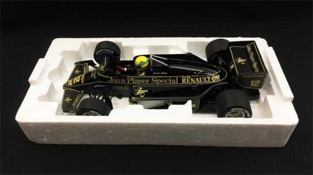 ミニチャンプス 1/18 ロータス ルノー 97T A.セナ 1985年 当店オリジナルタバコロゴモデル