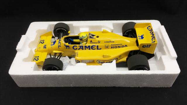 ミニチャンプス 1/18 ロータス ホンダ 99T A.セナ 1987年モナコGP優勝 当店オリジナルタバコロゴモデル