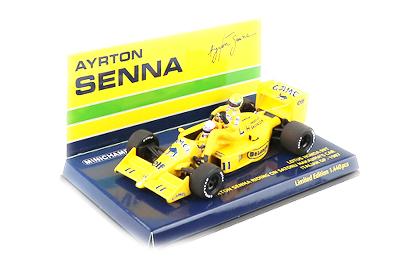 ミニチャンプス 1/43 ロータス ホンダ 99T 中嶋悟 1987年イタリアGP ライドオン アイルトン・セナフィギュア付