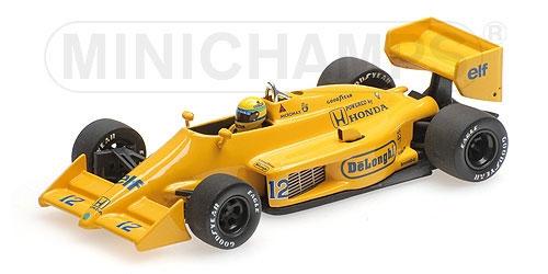 ミニチャンプス 1/43 ロータス ホンダ 99T A.セナ 1987年モナコGP優勝