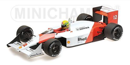 ミニチャンプス 1/12 マクラーレン ホンダ MP4/4 A.セナ 1988 ワールドチャンピオン  セナ・コレクション