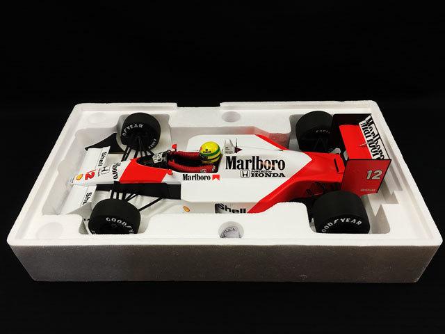 ミニチャンプス 1/12 マクラーレン ホンダ MP4/4 A.セナ 1988 ワールドチャンピオン セナ・コレクション 当店オリジナルタバコロゴモデル